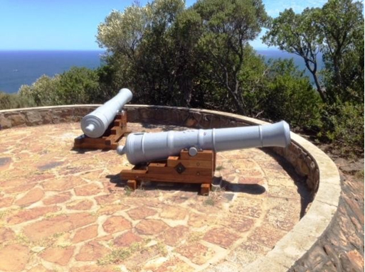 The guns below Lion's head