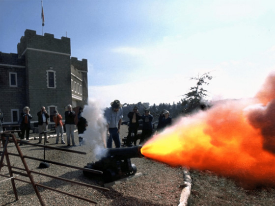 Firing of muzzle loading cannons