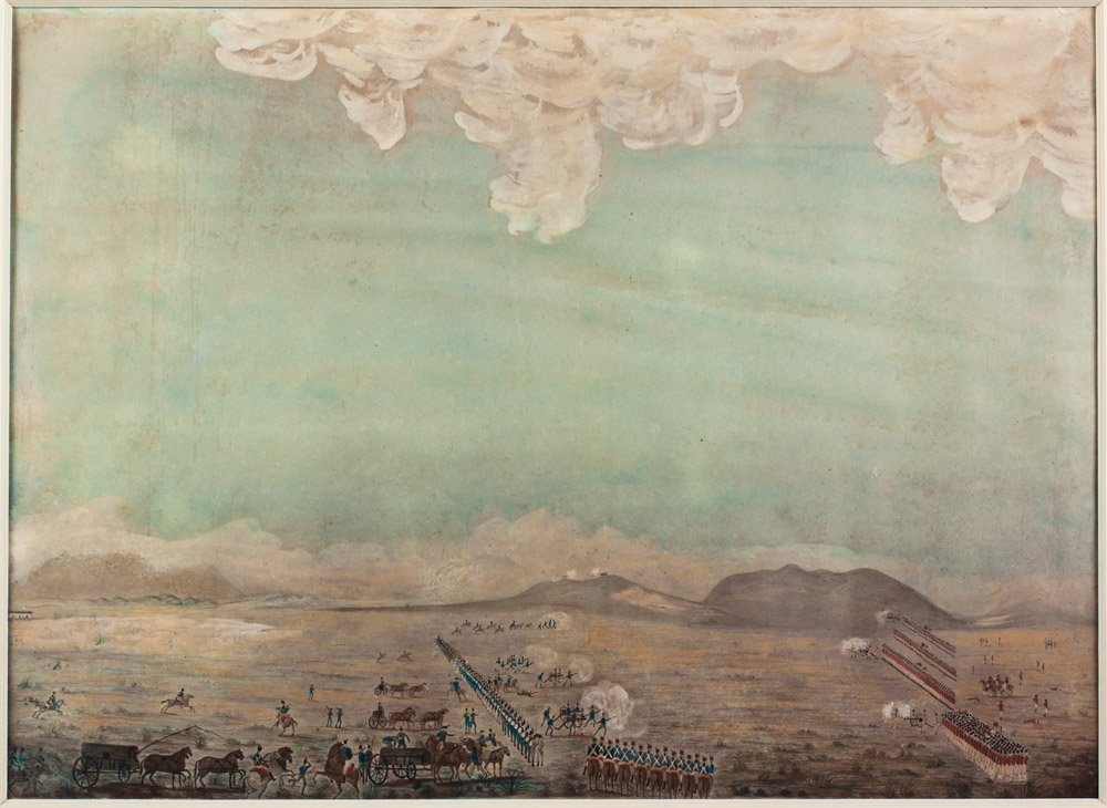 Battle of Blaauwberg, 8 January 1806, artist unknown [Parliamentary Collection 44995]